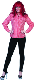 Cowgirl blouse rood/wit mt. 36/38