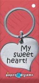 Hart sleutelhanger - sweetheart