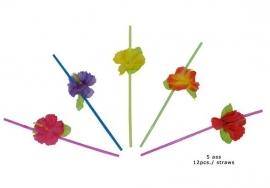 Rietjes hawaï bloemen per 12st.