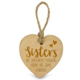 Houten hartje - Sisters