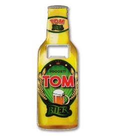 Magneet fles opener - Tom