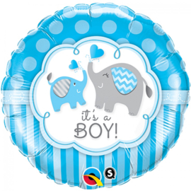 Folieballon It's a boy elephants