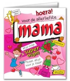 Wenskaart Cartoon Mama