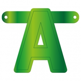 Banner Letter A Lime green