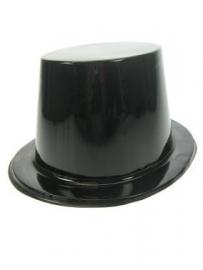 Hoge hoed plastic zwart