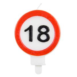 Kaars verkeersbord 18