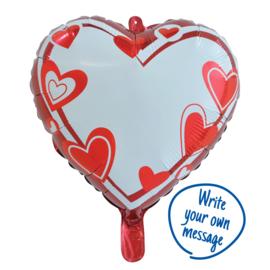 Folieballon hart beschrijfbaar