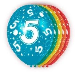 Ballonnen 5st.  5 jaar HE 30cm