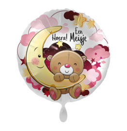 Folieballon Hoera! Een meisje