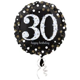 Folieballon 30 Birthday sparkling celeb. silver