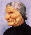 Masker rubber oma met grijs haar