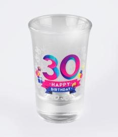 Happy shot glasses - 30 jaar (6 st.)