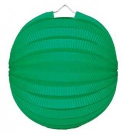 Lampion rond groen 23cm
