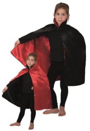 Cape met kraag kind (90cm) rood/zwart