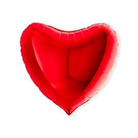 Folieballon hart rood (91cm)
