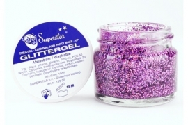 Superstar glittergel in pot 15 ml. lavender