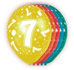 Ballonnen 5st.  7 jaar HE 30cm