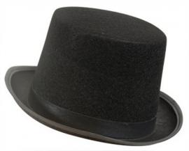 Hoge hoed zwart vilt