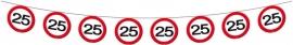 Vlaggenlijn Papier Verkeersbord 25
