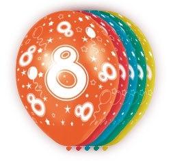 Ballonnen 5st.  8 jaar HE 30cm