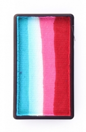 Splitcake PXP 28gr turquoise/wit/roze/rood
