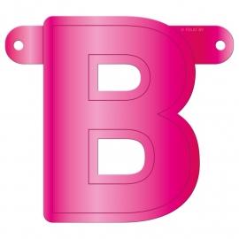 Banner Letter B Magenta