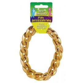 Armband gangster goud 31cm