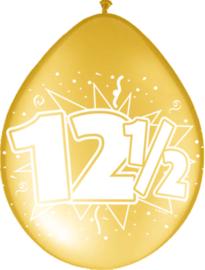 Ballonnen 8st. cijfer 12 1/2 brons
