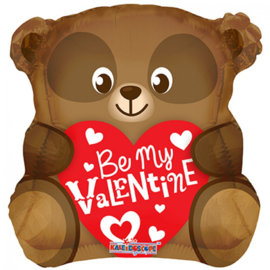 Folieballon Be my Valentine bear