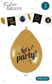 FN Ballonnen Let's Party / 6st.