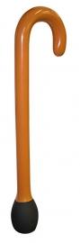 Wandelstok bruin opblaas