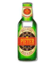 Magneet fles opener - Pieter