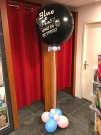 Gender reveal heliumballon inclusief voet