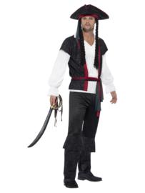 Piraat Aye Aye mt. XL (incl. hoed met haar)