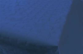 Tafelkleed damast donkerblauw 8m x 118cm