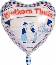 Folieballon welkom thuis delfts blauw