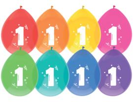 Ballonnen 8st. cijfer  1