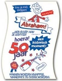 WC papier 50 jaar Abraham