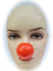 Neus clown plastic met elastiek per 24 stuks