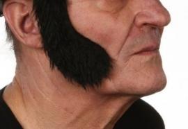 Bakkebaard Elvis zwart