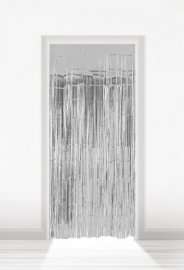 Deurgordijn folie zilver lxb = 2x1m