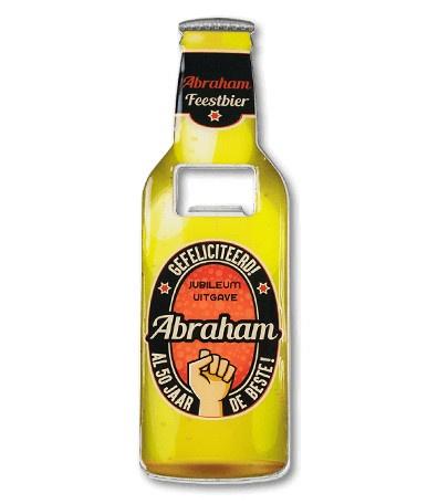 Magneet fles opener - Abraham