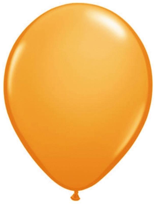 Ballonnen 10st. Oranje metallic