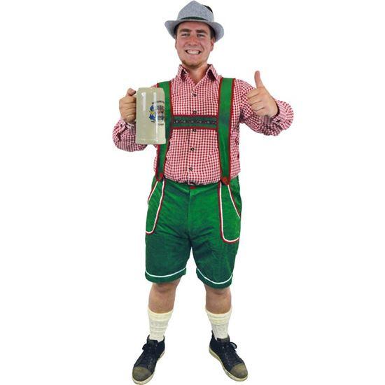 Tiroler broek deluxe groen mt. L