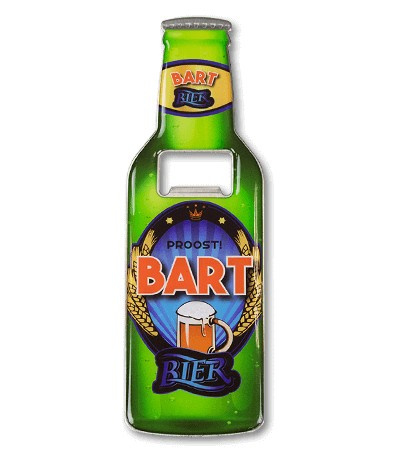 Magneet fles opener - Bart