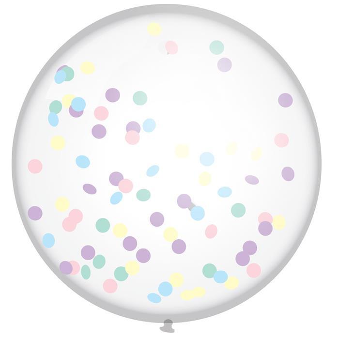 Mega confetti ballon multikleur