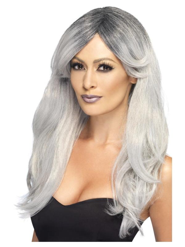Pruik Ghostly glamour grey