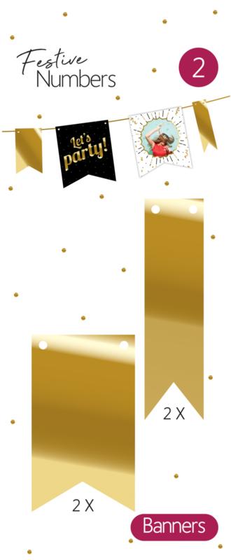 FN Gouden vaantjes / 4st.