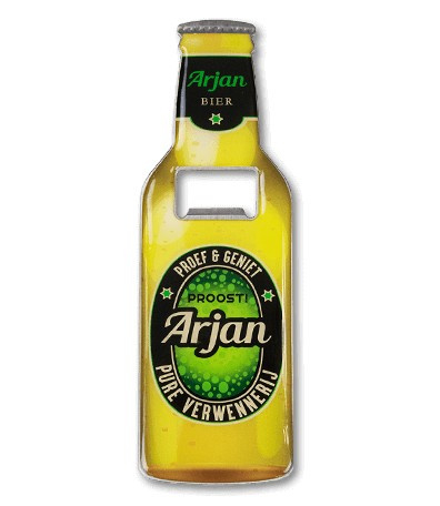Magneet fles opener - Arjan