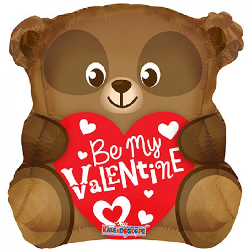 Folieballon Be my Valentine bear